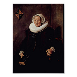 Frans Hals - Wife of Pieter Jacobsz Poster