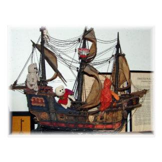 Franscious and Lennart Ship Postcard