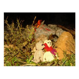 Franscious and Lennart Summer Camp Fire Postcard