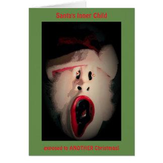 frantic Santa greeting card