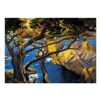 Franz Bischoff - Cleft-Born Trees, Monterey Poster