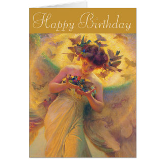Franz Dvorak Angel of Birds CC0430 Birthday Card