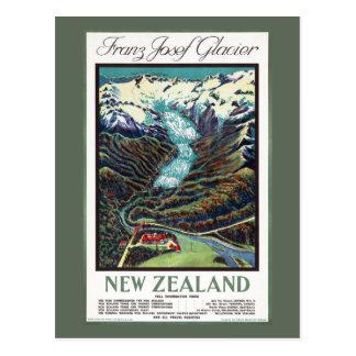Franz Josef Glacier Vintage Travel Poster Postcard