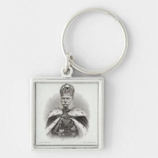 Franz-Joseph I of Austria Silver-Colored Square Key Ring
