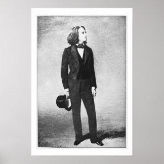 Franz Liszt (1811-86) 1856 (litho) (b/w photo) Poster