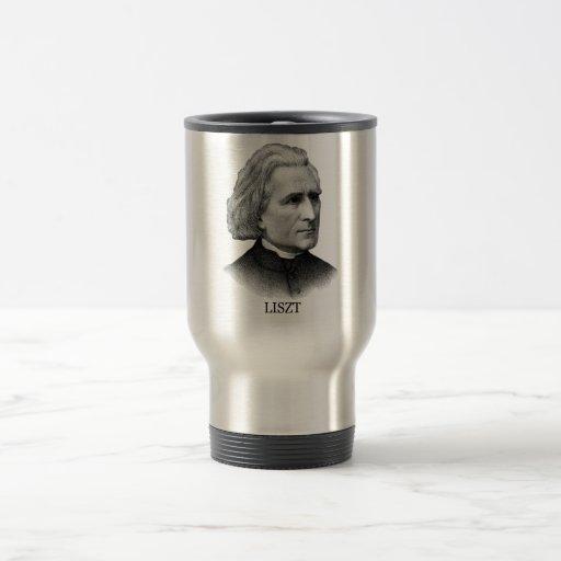 Franz Liszt, black Coffee Mugs