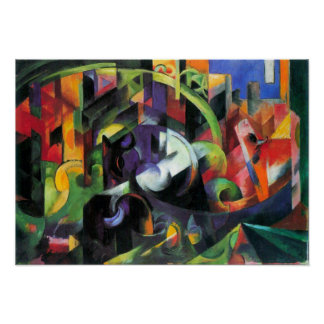 Franz Marc - Abstract with cattle Poster