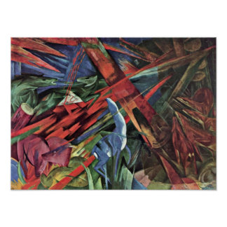 Franz Marc - animal fates Poster