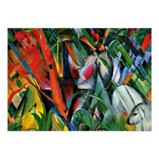 Franz Marc art: In the Rain Poster
