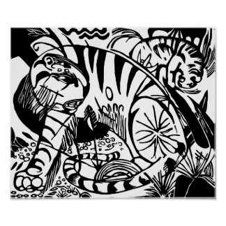 Franz Marc - Black and White Tiger - Abstract Art Poster