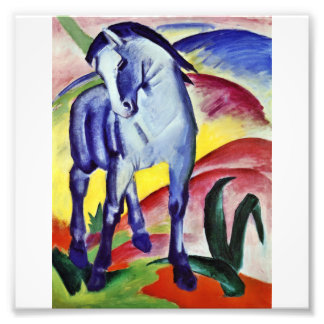 Franz Marc Blue Horse Vintage Fine Art Painting Photo Art