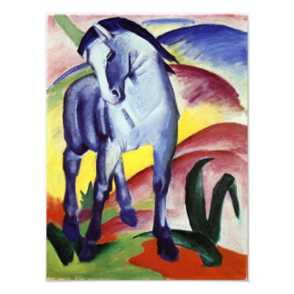 Franz Marc Blue Horse Vintage Fine Art Painting Photo Print