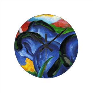Franz Marc Blue Horses Clock