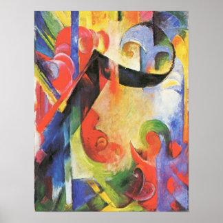 Franz Marc - Broken Forms Poster