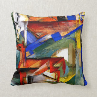 Franz Marc - Composition of Animals II Cushion