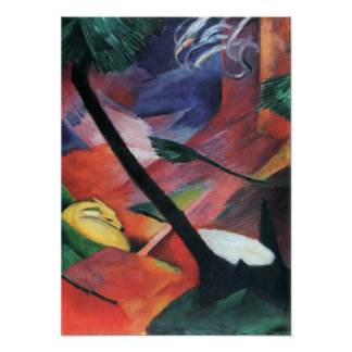 Franz Marc - Deer in the forest II Poster