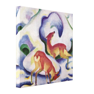 Franz Marc - Deer in the Snow Gallery Wrapped Canvas