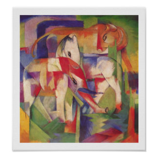 Franz Marc -Elephant, horse, cattle, winter Poster