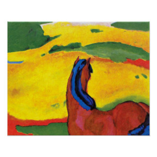 Franz Marc - Horse In A Landscape Painting Poster