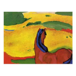 Franz Marc- Horse in a landscape Postcard