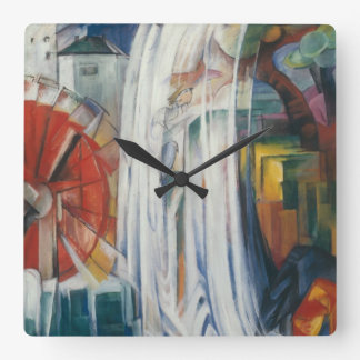 Franz Marc - The Bewitched Mill Square Wall Clock