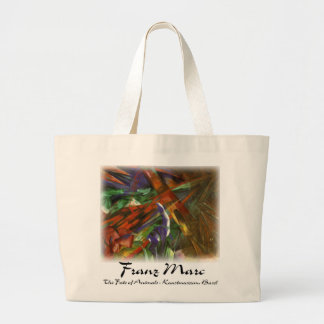 Franz Marc - The Fate of Animals Jumbo Tote Bag