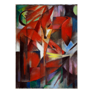 Franz Marc The Foxes Poster