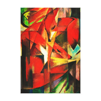 Franz Marc The Foxes Red Fox German Expressionism Gallery Wrapped Canvas