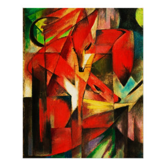 Franz Marc The Foxes Red Fox Modern Art Painting