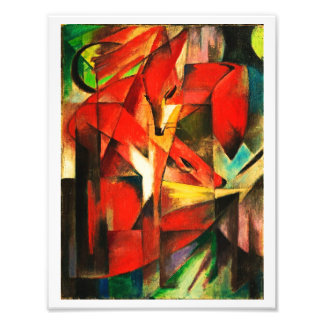 Franz Marc The Foxes Red Fox Modern Art Painting Art Photo