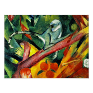 Franz Marc - The Little Monkey Poster