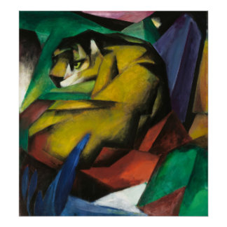 Franz Marc The Tiger Poster