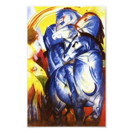 Franz Marc The Tower of Blue Horses Print Art Photo