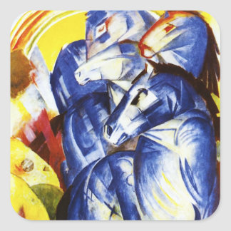 Franz Marc The Tower of Blue Horses Stickers