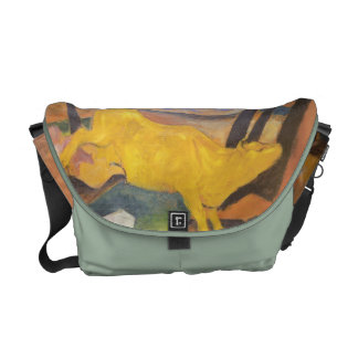 Franz Marc - The Yellow Cow Rickshaw Bag Messenger Bag