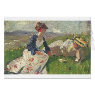 Franz Marc - Two Women on Mountain 1906 Female Card