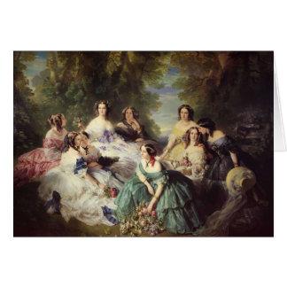 Franz Winterhalter-Empress Eugenie with her Ladies Greeting Card