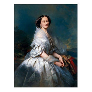 Franz Winterhalter- Portrait of Eliza Franciszka Postcard