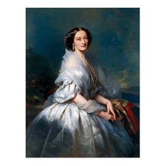 Franz Winterhalter- Portrait of Eliza Franciszka Postcard