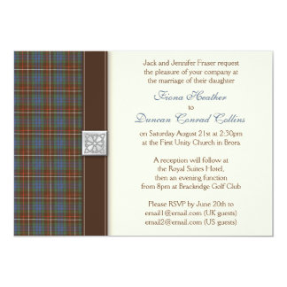 Fraser Ancient Hunting Tartan Wedding Invitation