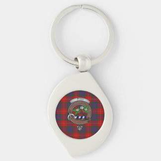 Fraser Clan Badge Silver Metal Key Ring