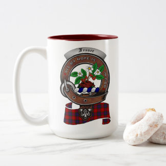 Fraser Clan Badge Two Tone 15oz Mug