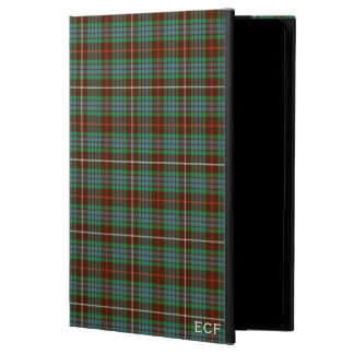 Fraser Clan Brown & Green Hunting Tartan Monogram Powis iPad Air 2 Case