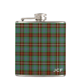Fraser Clan Hunting Tartan Monogram Flask