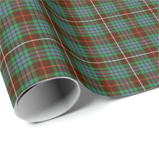 Fraser Clan Hunting Tartan Wrapping Paper