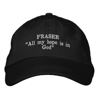 Fraser Clan Motto Embroidered Hat