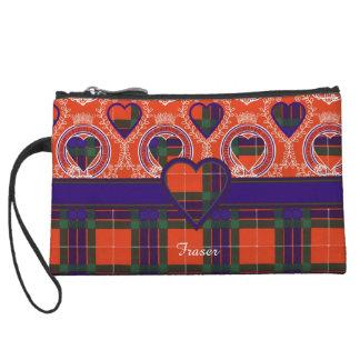 Fraser clan Plaid Scottish tartan Wristlet Clutches