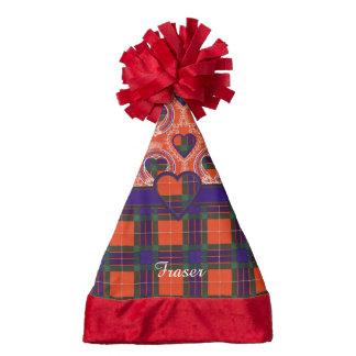 Fraser clan Plaid Scottish tartan Santa Hat
