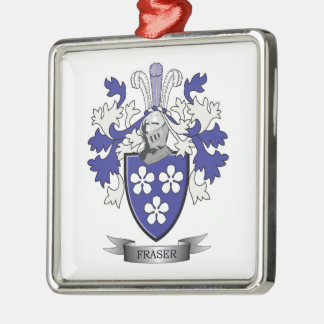 Fraser Family Crest Coat of Arms Metal Ornament