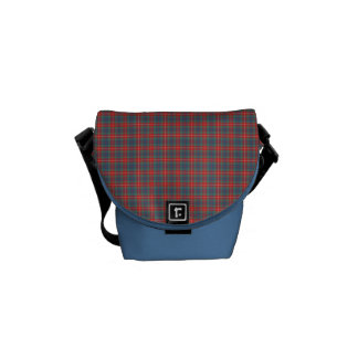 Fraser of Lovat Ancient Tartan Light Blue Plaid Commuter Bag